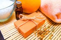 Orange Lavender Organic soap $7.99