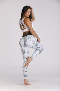 Beautiful Floral Printed Womens Fitness Leggings $25.99