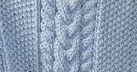 Free Pattern: Little Boy Blue Baby Blanket ---pretty cable