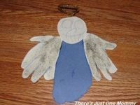 #preschooler #angel craft from There's Just One Mommy