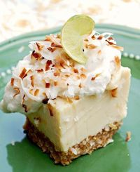 key lime, coconut bars and limes.