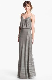 Adrianna Papell Embellished Blouson Mesh Gown available at #Nordstrom