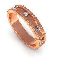 Gold ring Milgrain wedding band Victorian Wedding ring ring band 14K or 18K with diamonds $1266.00