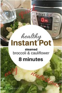 Steamed broccoli and cauliflower have never been easier to make than in my Instant Pot. What is so great about this pressure cooker? Well, the biggest thing is that you don't overcook steamed vegetables. Eating soggy broccoli was pretty common in my...