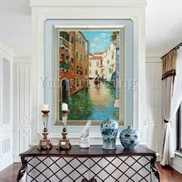 Cityscape painting Oil Paintings on canvas original art Venice Painting Venice italy art Canvas Painting Wall art Wall pictures $109.00