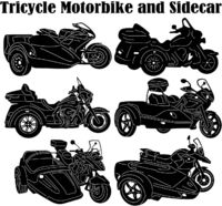 Tricycle Motorbike and Sidecar Just for: $49.00
