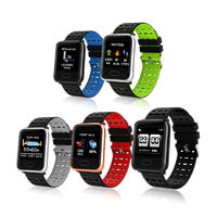 Bakeey A7 Weather IP67 Waterproof Heart Rate Blood Pressure Oxygen Monitor Colorful Band Smart Watch