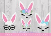 Download FREE Bunny Faces SVG, PNG, DXF & EPS file for your DIY project. Files compatible with Cricut, Cameo Silhouette Studio!