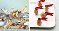 Nut Place Cards, Fall Centerpiece, Fall Inspiration
