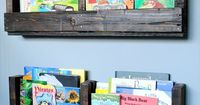 Instead of hanging things on wall consider pallet shelves which would hold a lot of decorations on one place. The best thing about pallet shelves is that it is