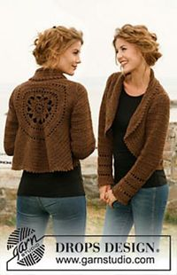 "Ravelry: 132-2 ""Wild Flower"" - Crochet jacket worked in a circle - free ""Nepal"" pattern by DROPS design"