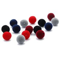 Pack of 100 Loose Velvety Fabric Beads. Different Colours 8mm Felt Spacers £9.69