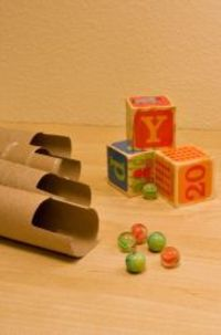 Preschool Simple Experiments Activities: Make a Marble Obstacle Course