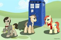 72720 - Amy Pond Doctor Whoof Doctor Whooves Eleventh Doctor Matt Smith Rory Williams doctor who ponified tardis.png (680�—448) My kids think this is great!