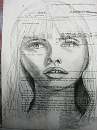 draw faces, draw and learning.