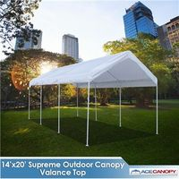 Supreme Canopy with Valance Top - 14x20 Super Sale