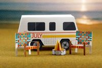 DIY papercraft camping scene from The Curiosity Group via How About Orange
