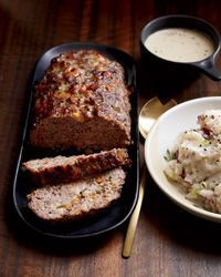 This outstanding meat loaf combines ground beef, pork and Monterey Jack, which melts as it bakes.