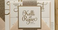 ADELE Suite Glitter Package, blush and gold, letterpress wedding invitations, gold glitter, glitter wedding invitations, beautiful script wedding invitations, http://justinviteme.com/collections/styled-collections/products/adele-suite-glitter-package