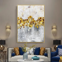 Gold Leaf Acrylic Abstract Paintings On Canvas original art flowers painting extra Large framed painting wall decor cuadros abstractos $89.00