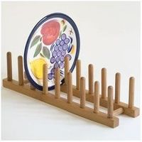 Bamboo Plate Rack /Pot Lid Holder--2 of these in cabinet hold all my pot lids nicely.