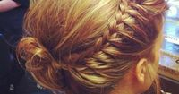 example of a Queen's Braid... like a French braid, but hair is added only on one side.. very lovely effect