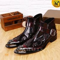 CWMALLS® Men Leather Ankle Dress Boots CW706357