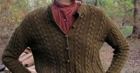 vintage 1950s wool cable knit cardigan