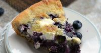 This skillet blueberries and cream cobbler makes for a wonderful dessert! We love to serve it warm, right out of the skillet with a topping of ice cream!