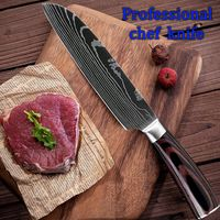 "Chef Knife Professional Kitchen Knives 5"" Santoku Knife Stainless Steel Cooking Tools Pakka $15.80"