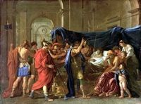 The Death of Germanicus, oil on canvas by Nicolas Poussin, c. 1627 (Baroque)