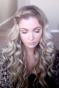 love the braid and curls :) will have to try this once my hair is long again