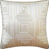 Edge Stitch Bronze Pillow by Ryan Studio $305.00