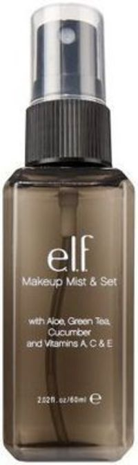 e.l.f. Makeup Mist & Set - Review #makeup #beauty $3 a dupe of MAC Fix+ and Model In A Bottle Original Spray ELF Mist & Set contains skin refreshing ingredients like aloe, green tea, and vitamin C. Apply it before your makeup to help foundation bl...