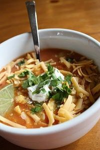 Chicken Tortilla Soup with Chipotle and Lime