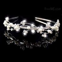 Gorgeous Created Clear Crystal Hair Jewelry & Wedding Headpieces & Wedding Tiaras