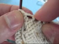 The trick to picking up heel flap stitches without a hole in the gusset