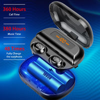Mini Portable Wireless bluetooth 5.0 Earphone LED Display Stereo 4000mAh Power Bank Earbuds Bilateral Call Headphone