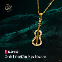 Rock with this stylish gold electric guitar pendant necklace.  �–� Product type: Gold Necklace  �–� Price: 37.000KD �–� Weight: 1.800 Grams �–� Free Delivery �–� Karat: 18 Karat �–� Part Number: FKJNKL1492 �!...