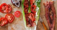 I had no idea when I made this yesterday that today, AUG. 31st, was NATIONAL BACON DAY. All I had been thinking was how the BLT is the perfect end-of-summer mea