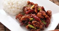 General Tso's chicken is a sweet, slightly spicy, deep-fried chicken dish that is popularly served in American Chinese restaurants.