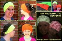 Check out this free Tunisian crochet pattern from Calleigh's Clips. She says she learned Tunisian crochet from my videos. :-) Calleigh's Clips & Crochet Creations: Runner's Reflective Headband Crochet Pattern