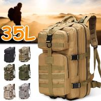 35L Waterproof Backpack Men Tactical Shoulder Bag Outdoor Traveling Camping Hiking Climbing Bag