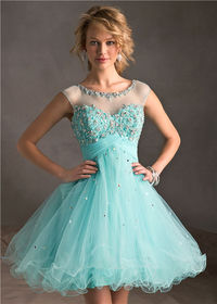Mori Lee 9244 Lace Short Homecoming Dress