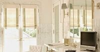 South Shore Decorating Blog: White and Neutral Rooms with Pops of Color and Gold