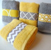 Sew a cotton strip on towels... CUTE!