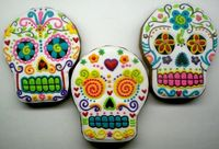 Sugar Skull Cookies (not that I would ever make them, but they are awesome...)