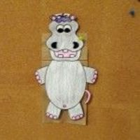 Please feel free to use this free preschool craft in your online preschool program with Preschool For a Year. Here is our Free Preschool Craft for the month! I hope you enjoy this cute hippo puppet as much as my students have.
