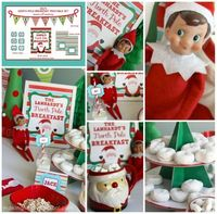 Welcome your Elf with a North Pole Breakfast! FREE Printable Set.