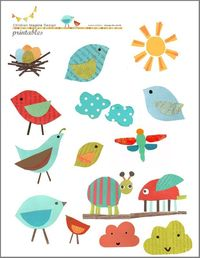 """cool blog - printable cut outs, printable art prints, & lots of chore & """"to do"""" charts for the kids"""